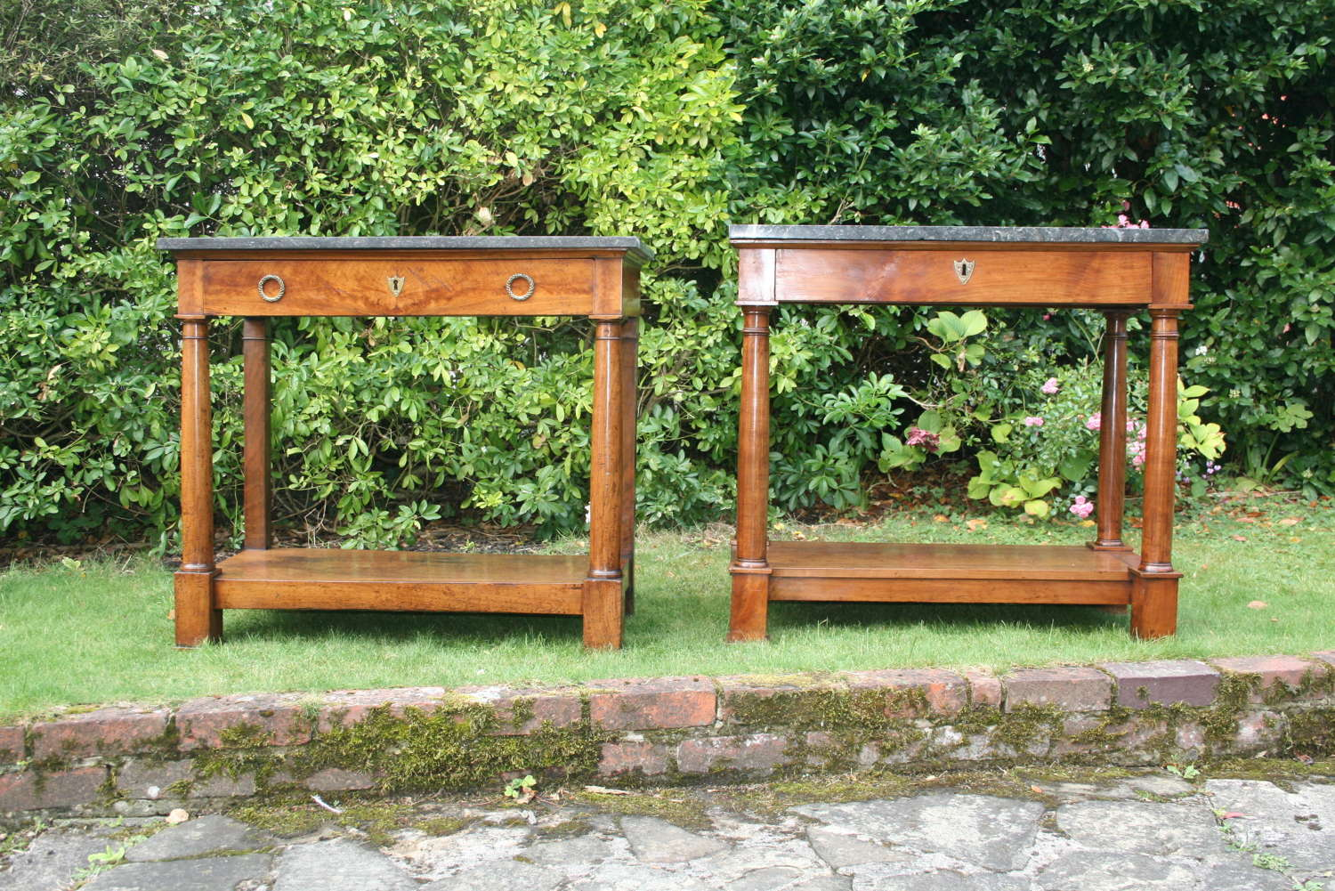 Pair of matched period console tables