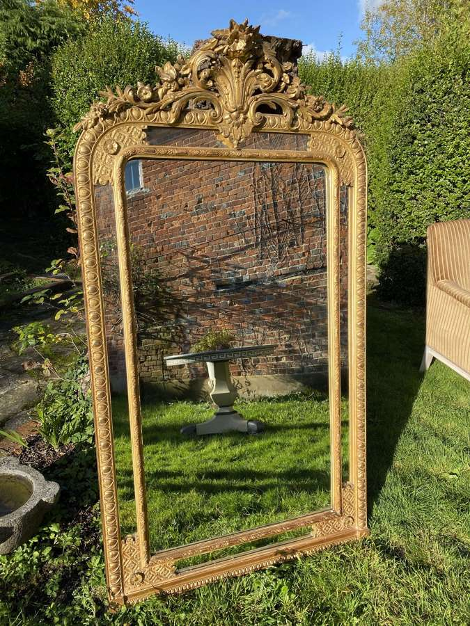 Bordered gilt mirror