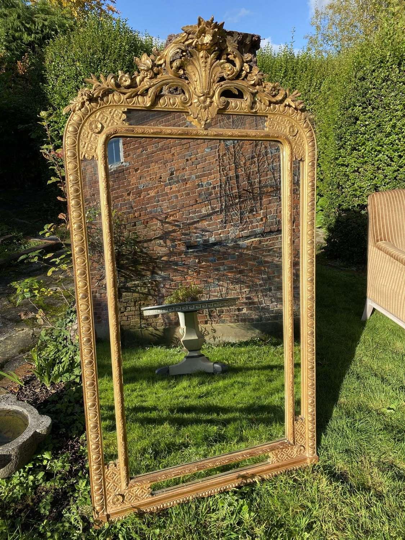 Bordered gilt mirror