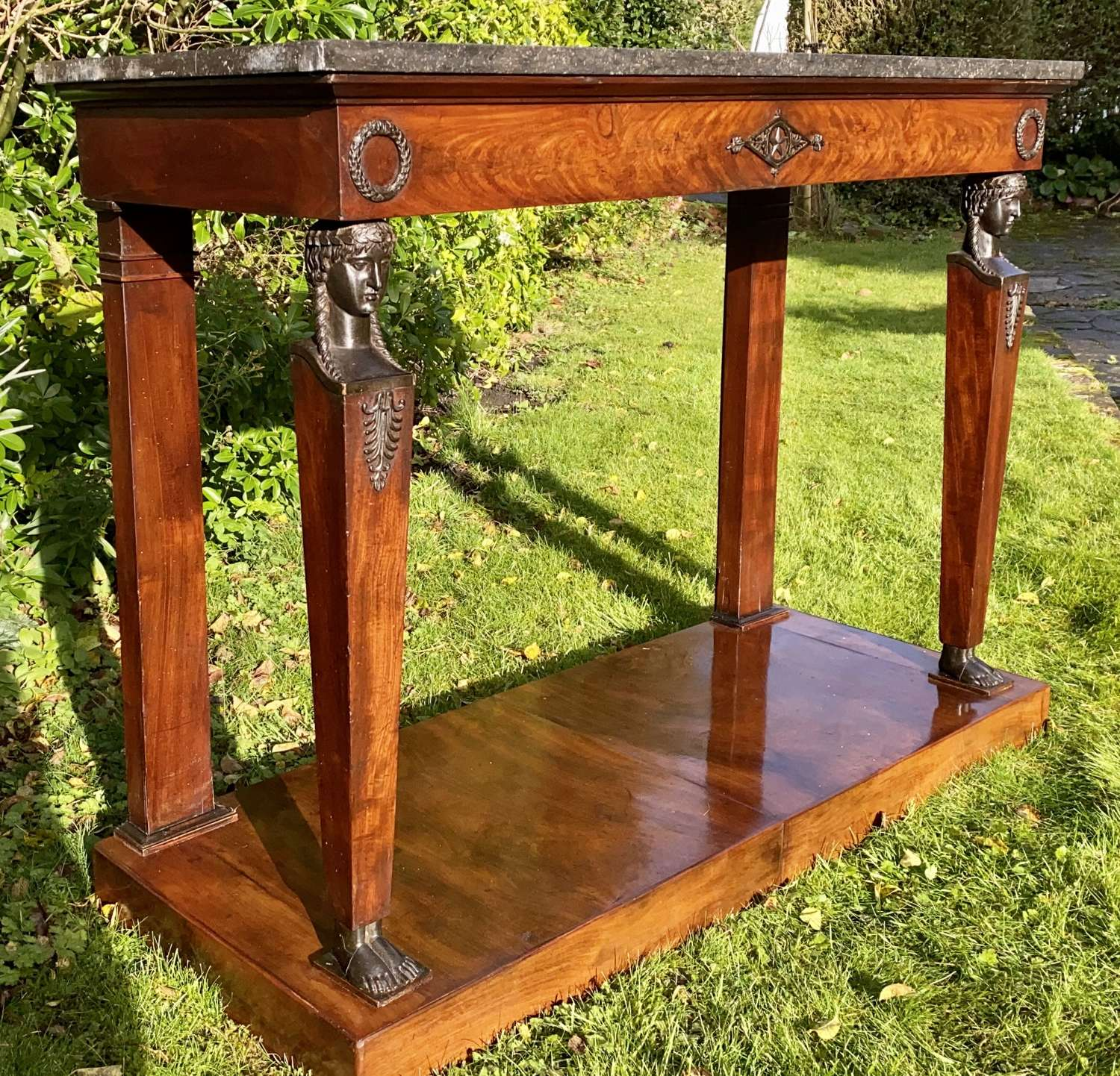 French Empire console table