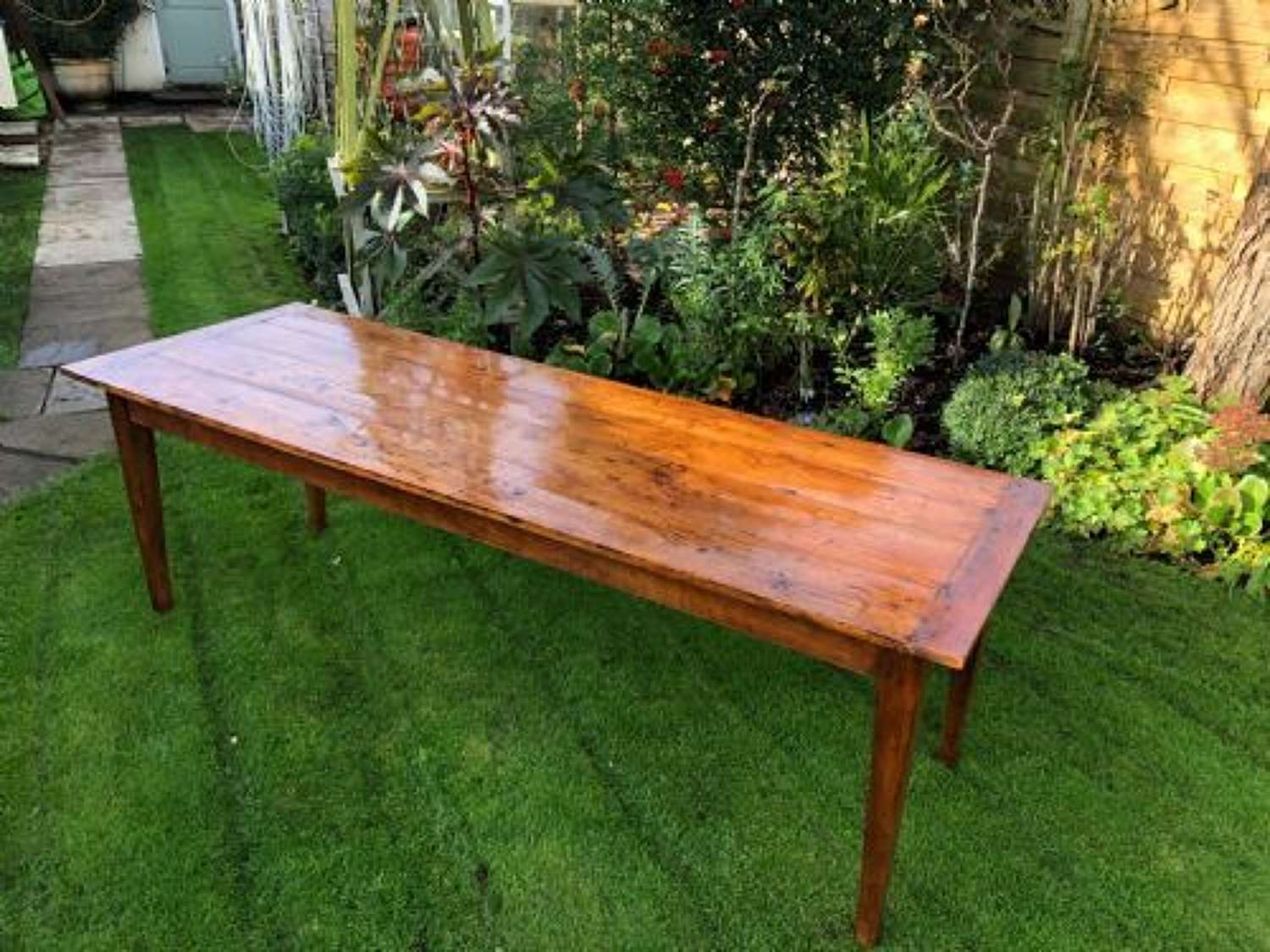 Large cherry wood french farmhouse table
