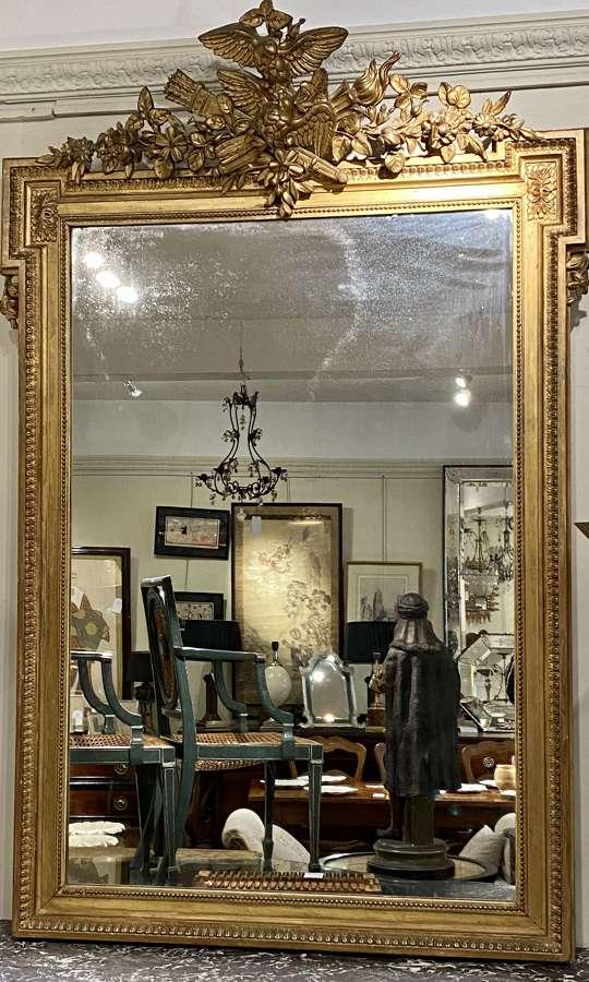 French gilt mirror