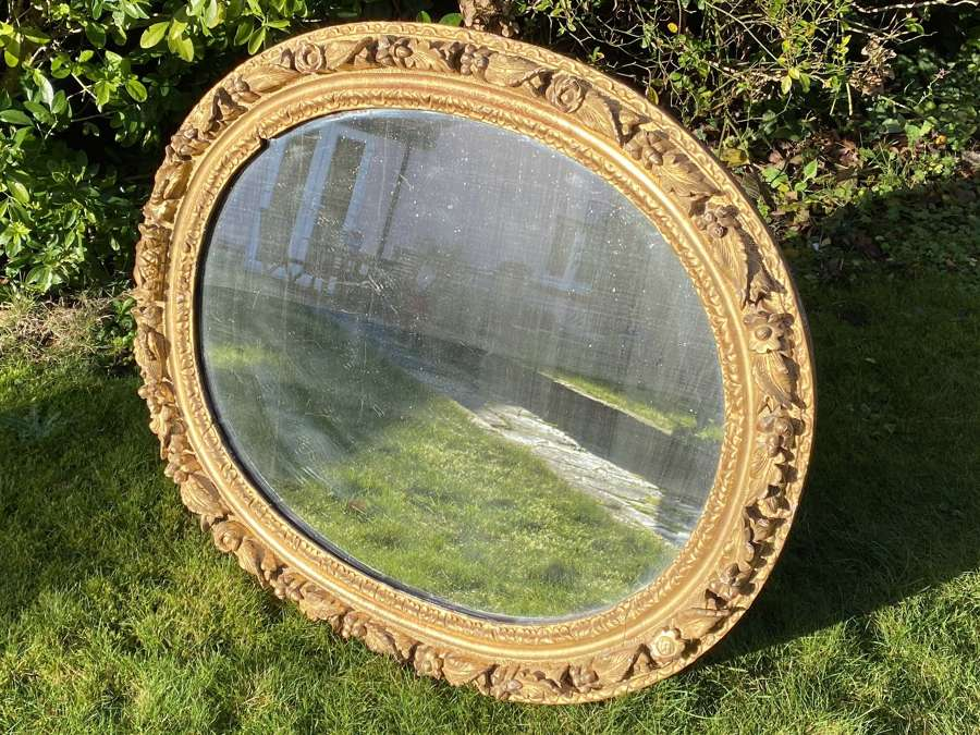 Early 18th Century carved giltwood mirror