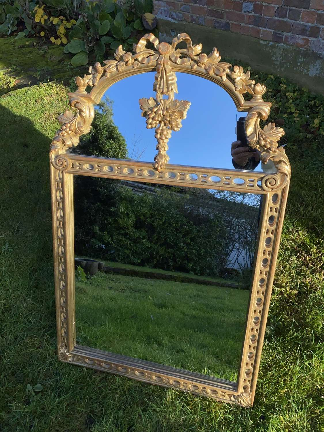 Pretty carved giltwood mirror