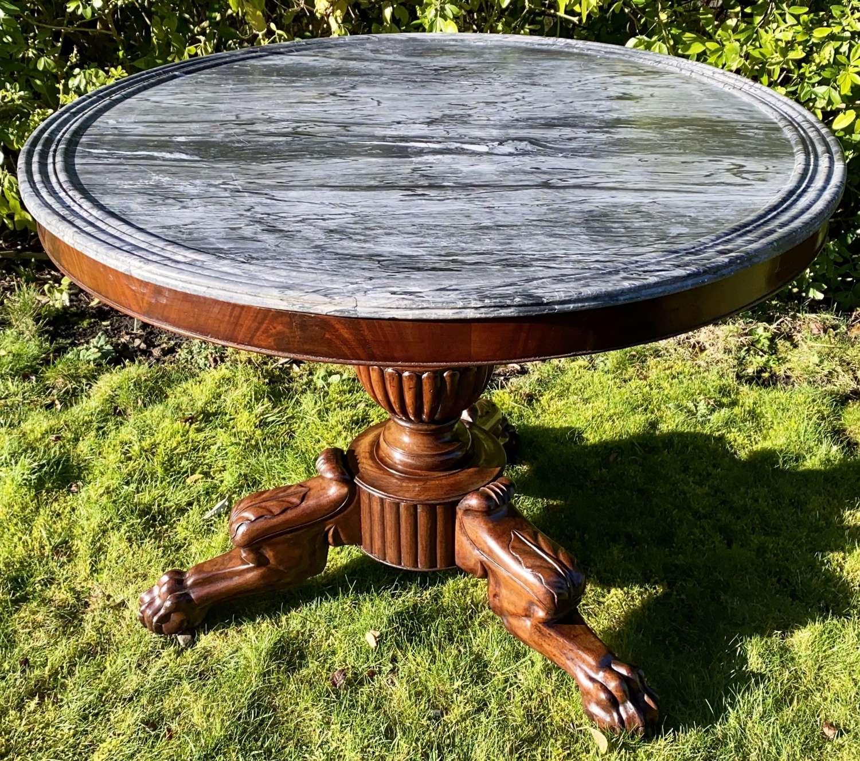 Flame mahogany Gueridon or centre table