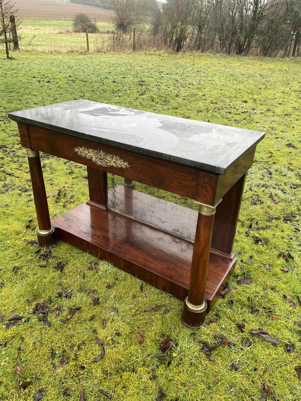 Empire Period Console Table In Mahogany