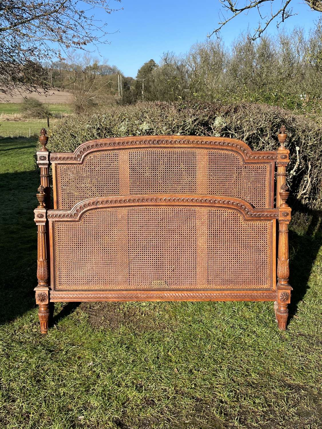 King Size Walnut French Bed