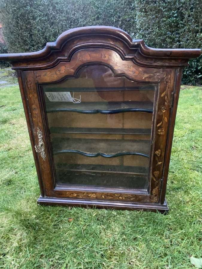 Dutch marquetry wall cabinet