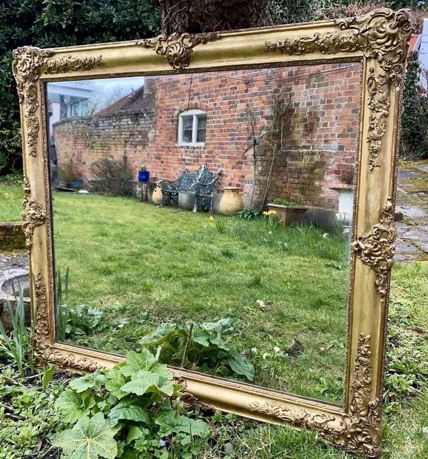 19th Century gilt mirror