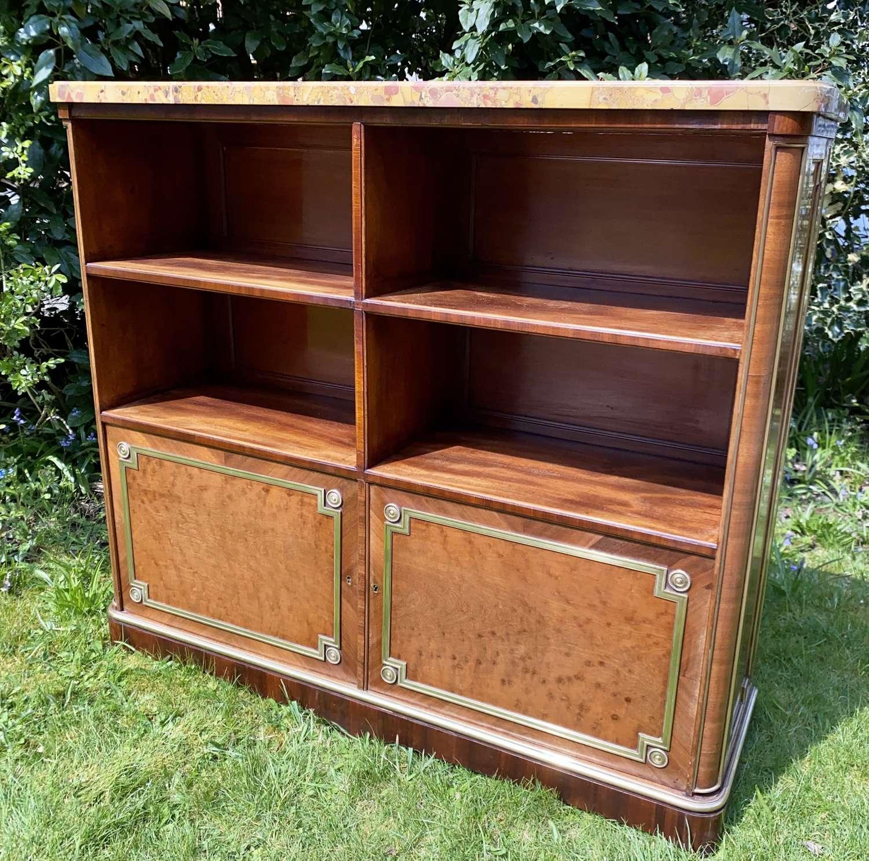 Plum pudding mahogany bookcase