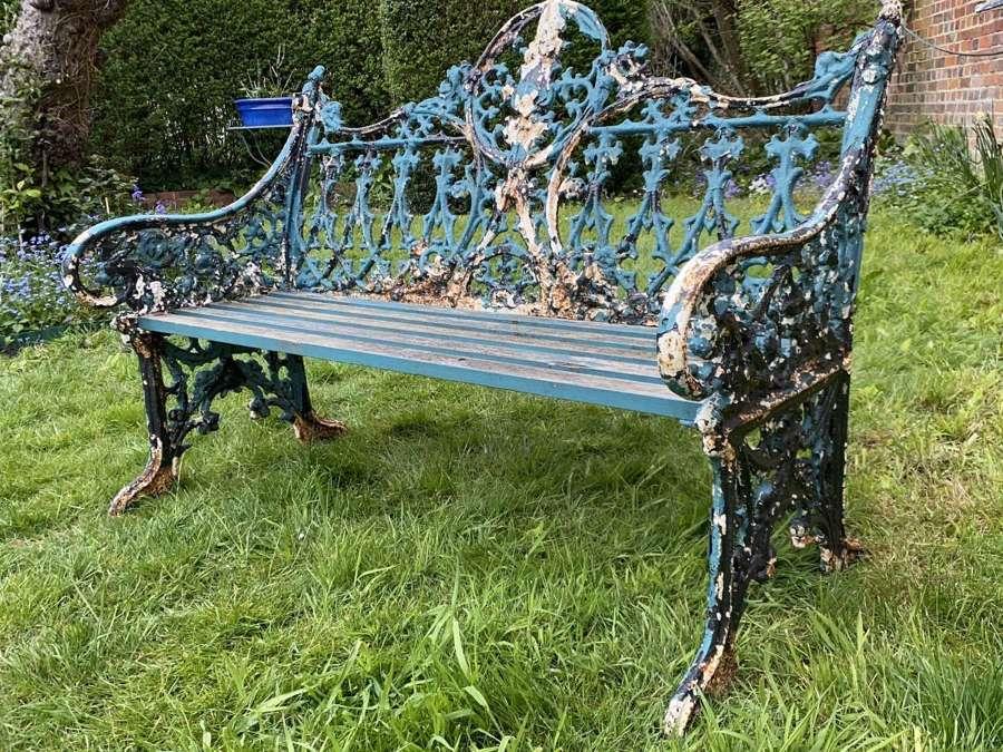Coalbrookdale cast iron garden bench