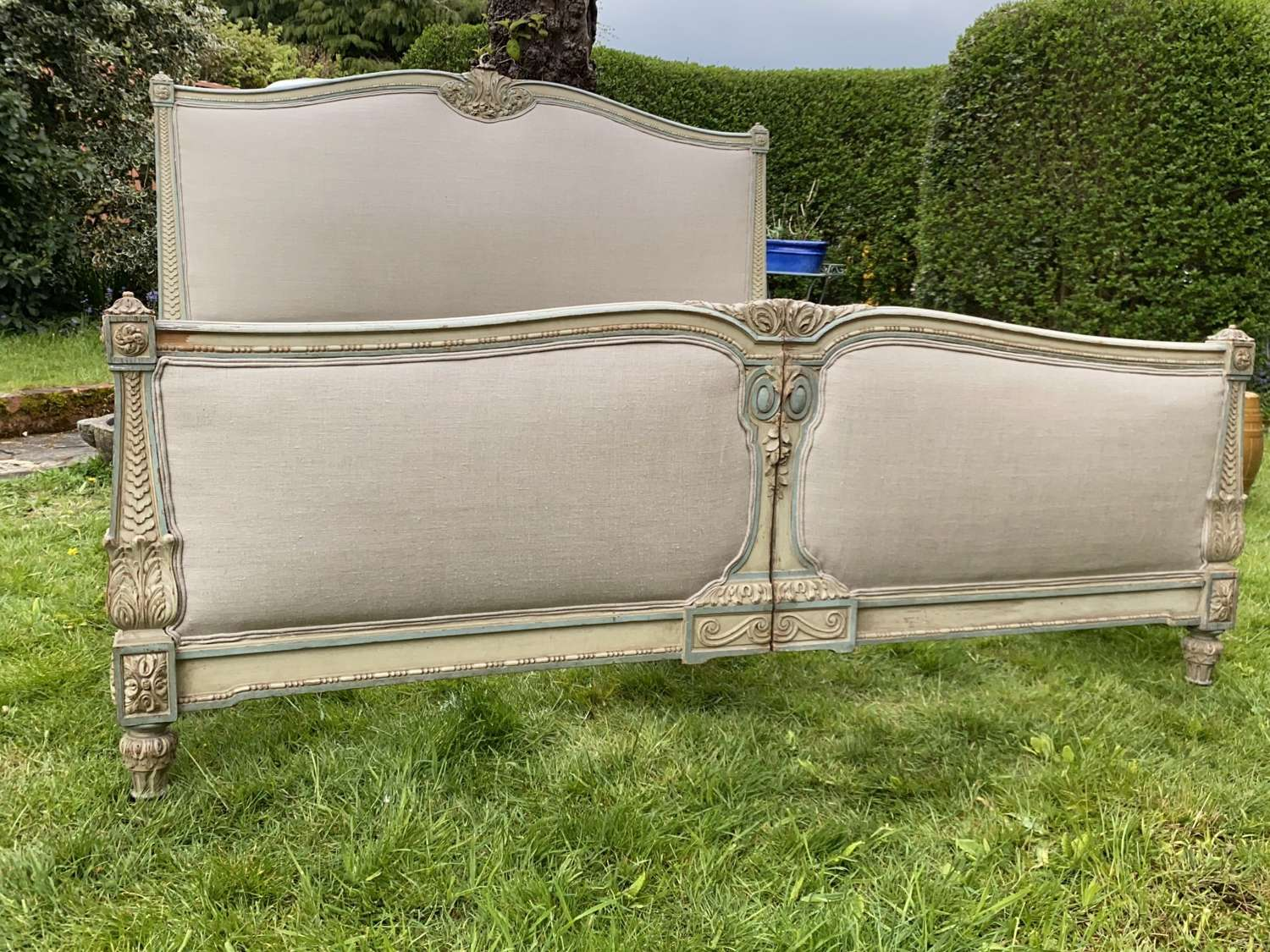 Emperor size painted bed