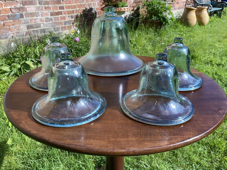 Hand blown Victorian glass cloches
