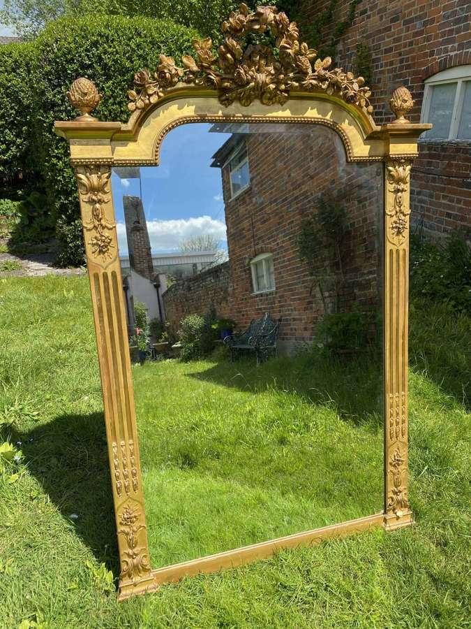 French Louis XVI style gilt mirror