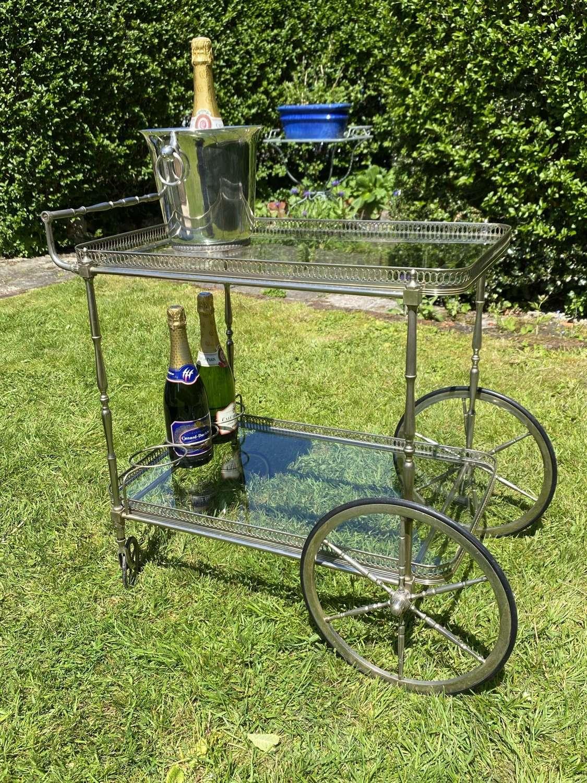 Mid century drinks trolley or bar cart
