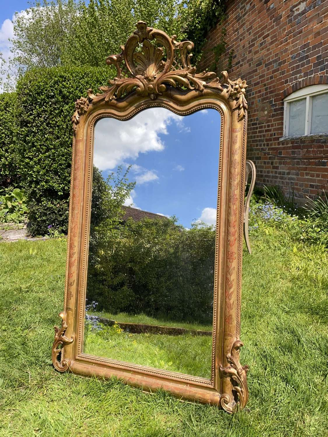 French shaped mirror