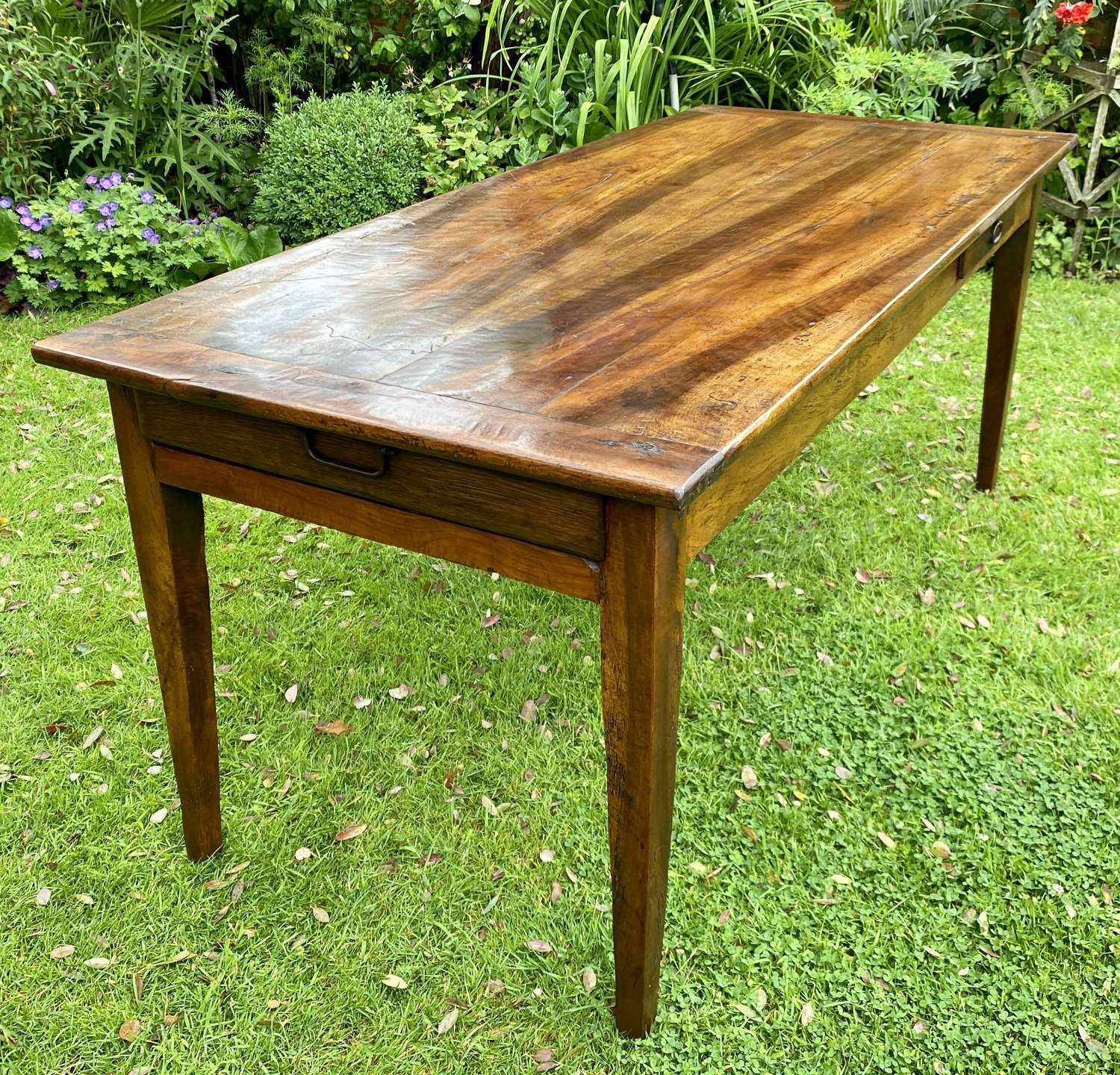 French country table in walnut