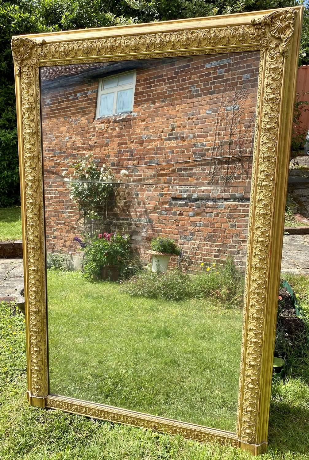 Very large early 19th Century mirror