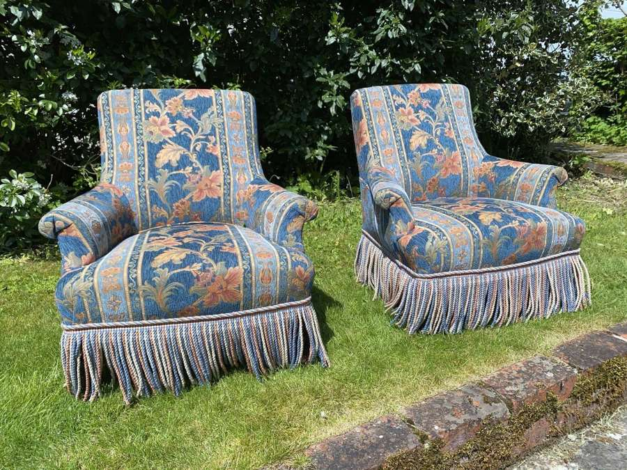 Pair of small French armchairs