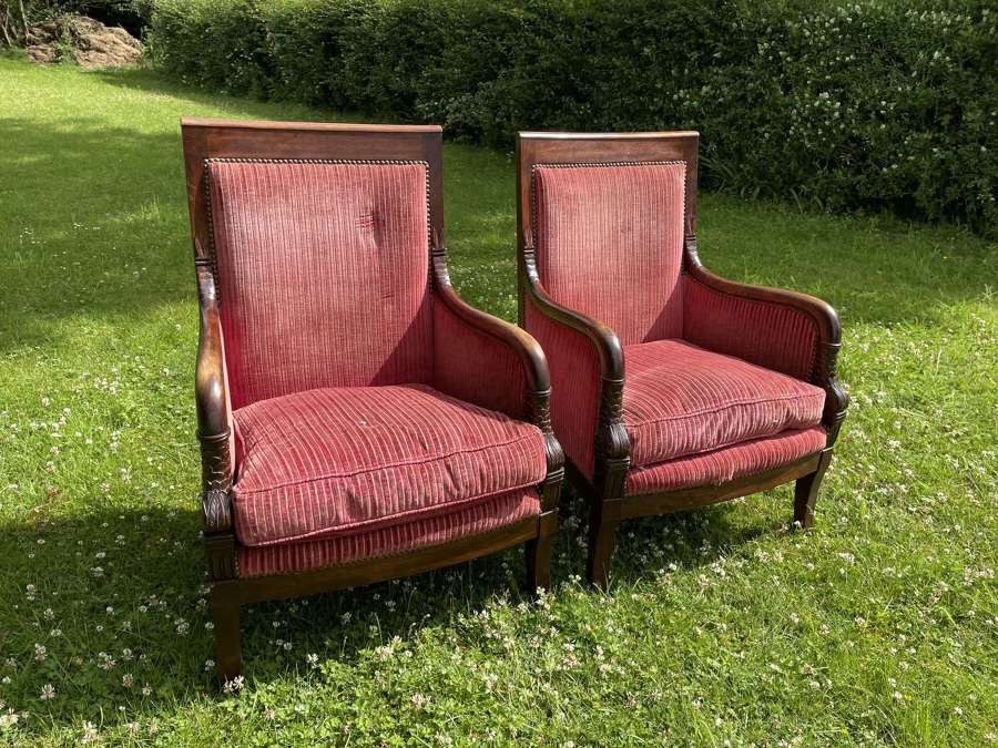 A Pair Of French Empire Style Chairs