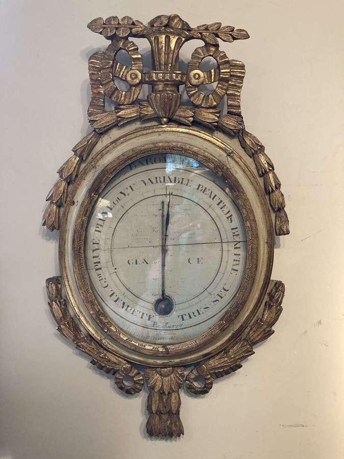 French 18th Century Barometer