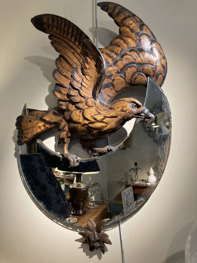 French Carved Eagle Mirror