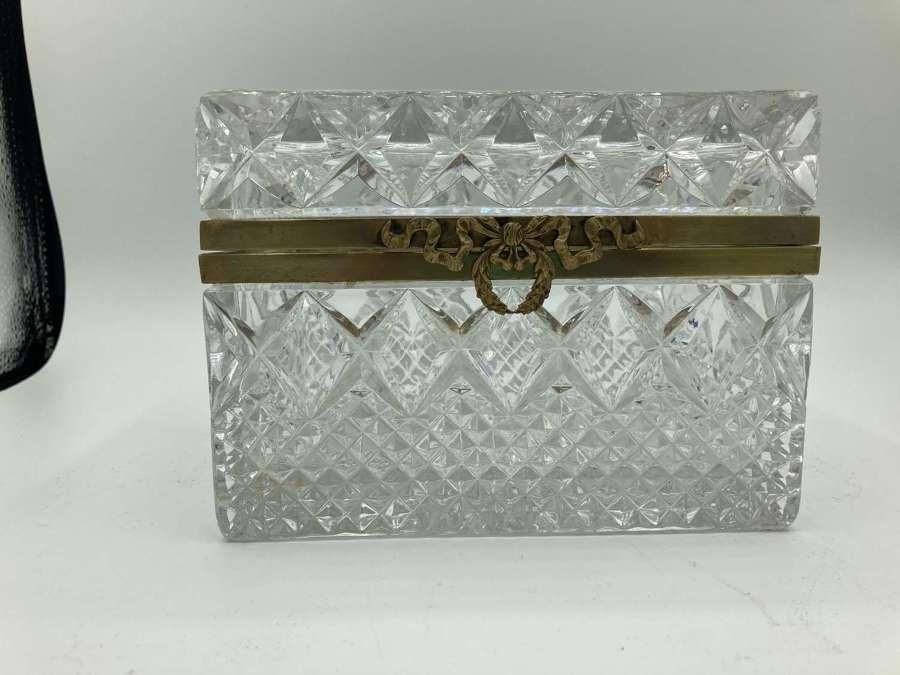 A Cut Glass French Trinket Box