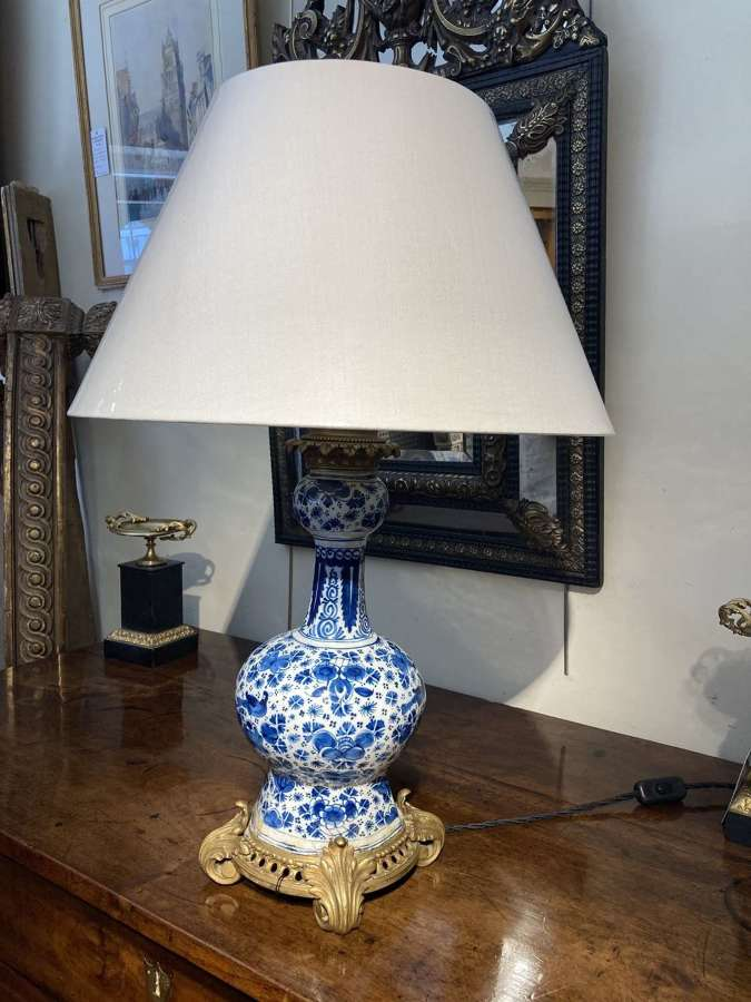 A 17th Century Delft Table Lamp