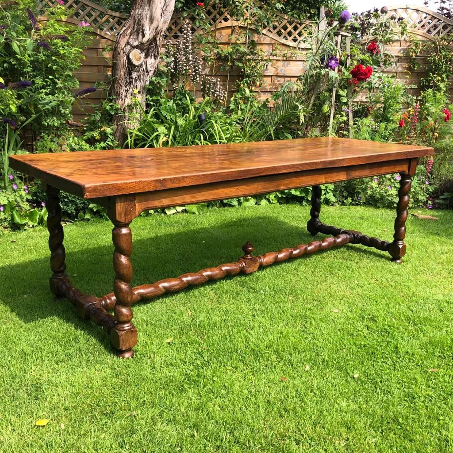 Large French country table in elm