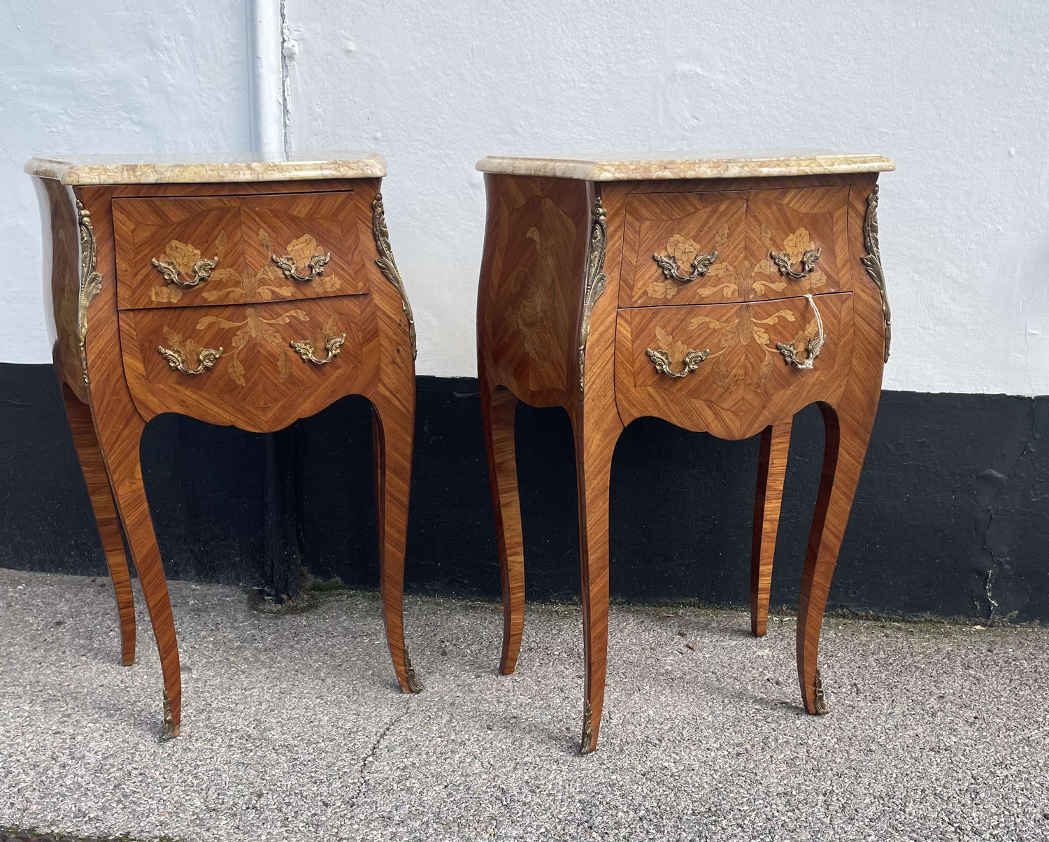 A Pair Of French Kingwood Bedsides