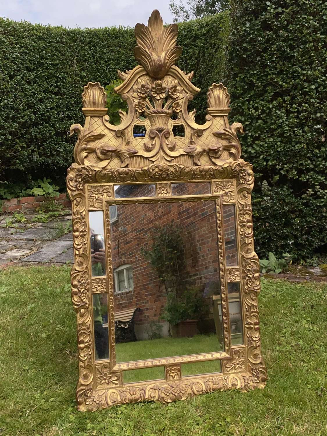 Early French gilt mirror