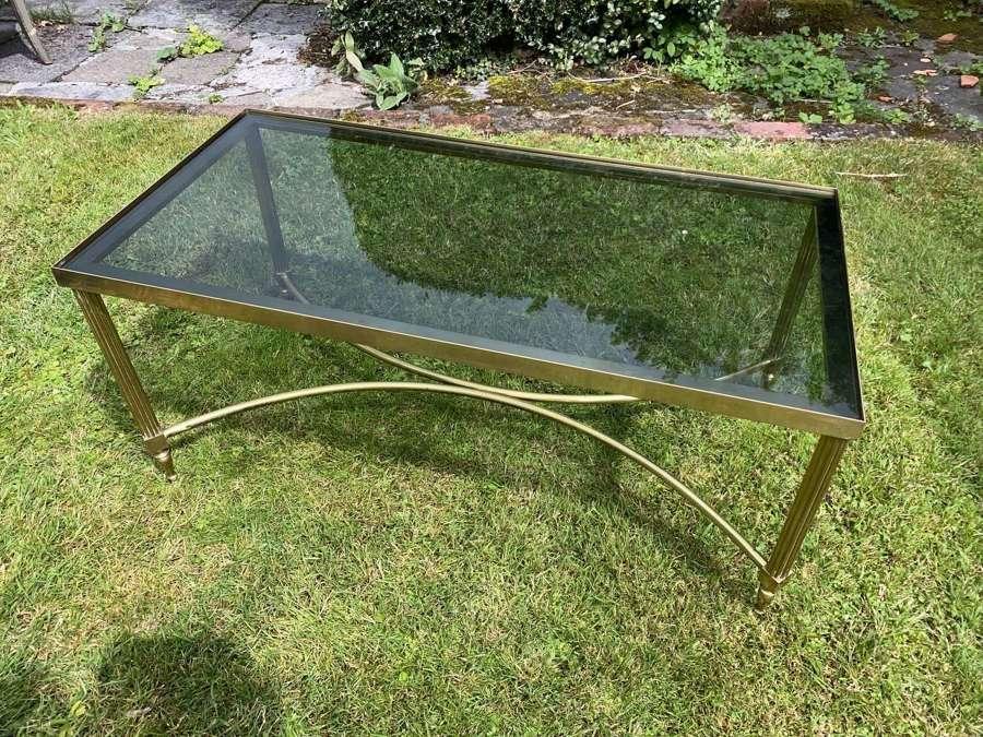 Mid century smoked glass coffee table