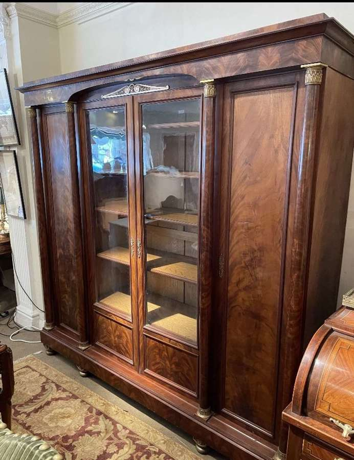 An Empire Style Mahogany Bookcase