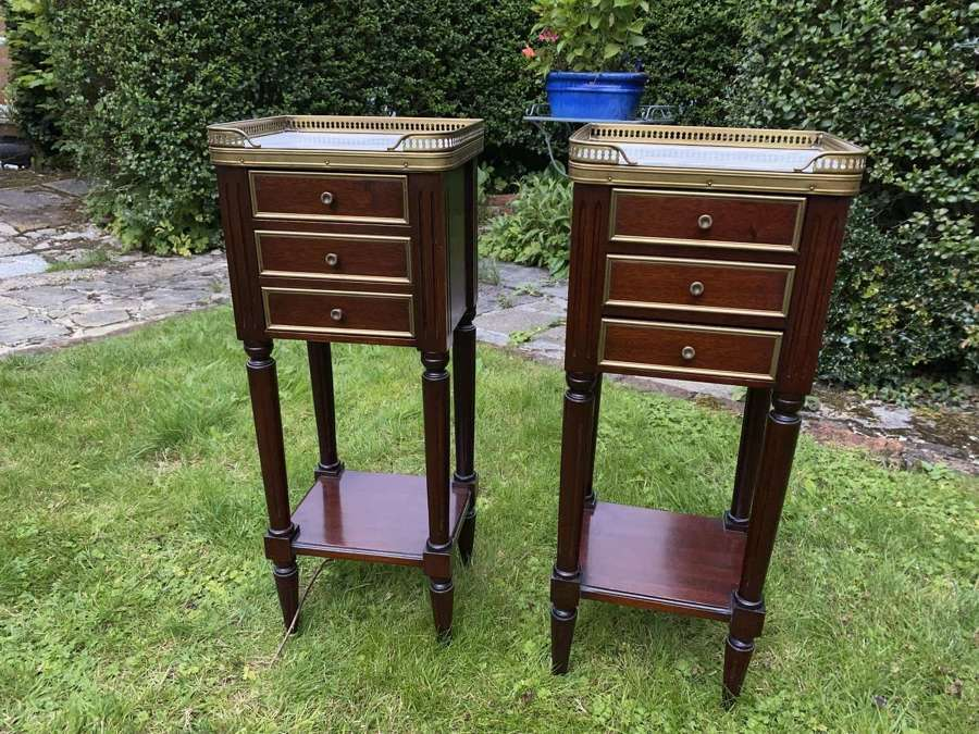 Pair of small bedside tables