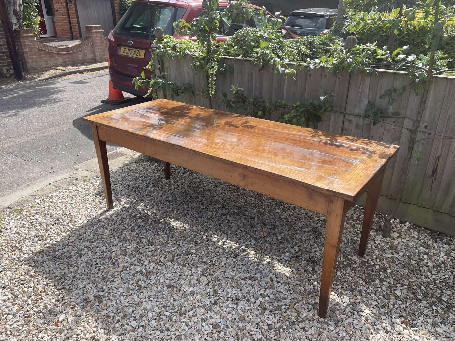 French Cherry Wood Farm Table