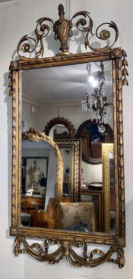 Early French crested mirror