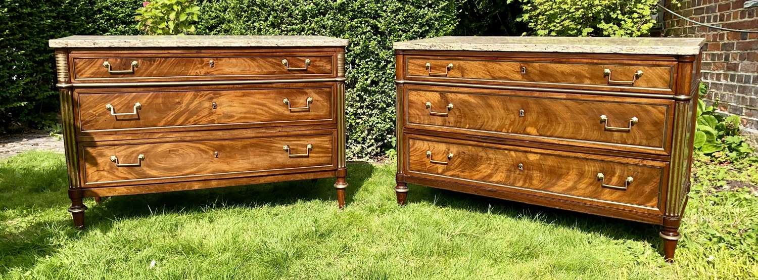 Matched pair of 18th Century French commodes