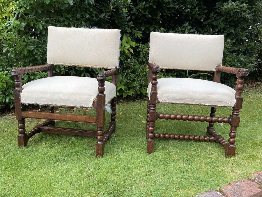 Pair of Walnut armchairs circa 1700