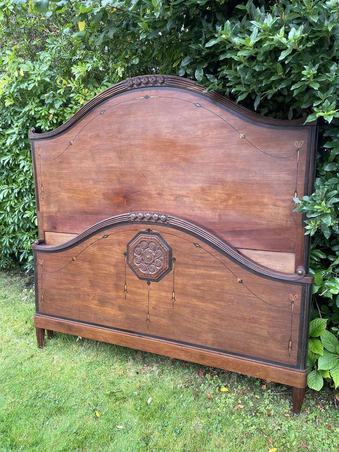 Art Deco Kingsize Mahogany Bed